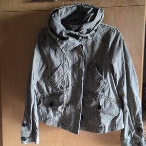 Hei Hei olive green cotton hooded jacket S